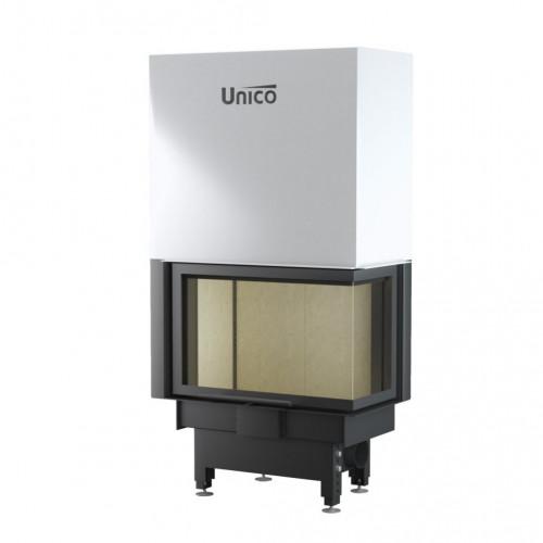Каминная топка Unico DRAGON 2B LIFT Modern (раздельное стекло), 4-13 кВт