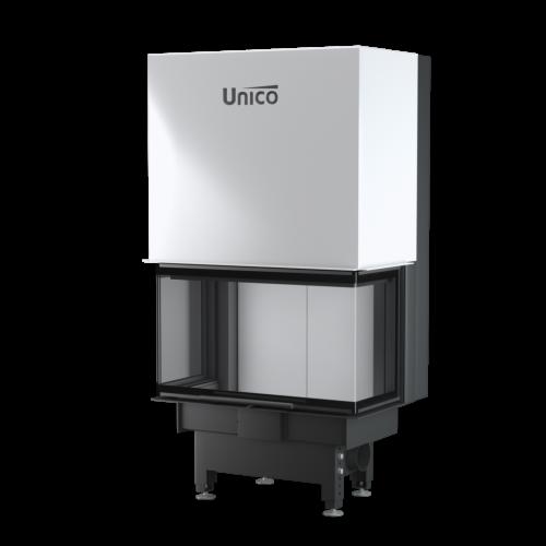 Тристоронній камін Unico DRAGON 2C LIFT Optima, 4-13кВт