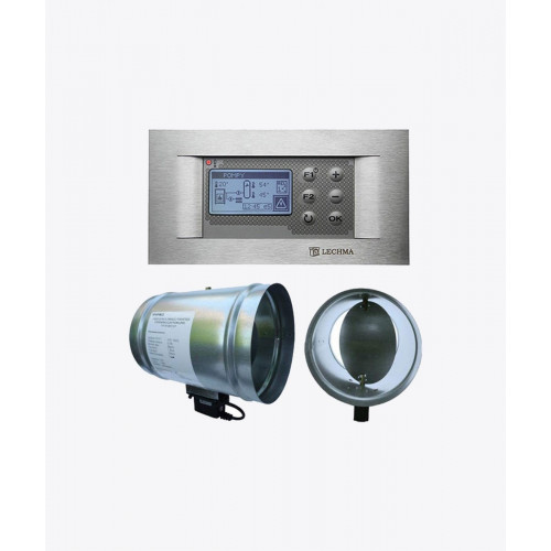 Автоматика для камина RT-08G Kominek LUX (с графическим дисплеем), Ø 100мм