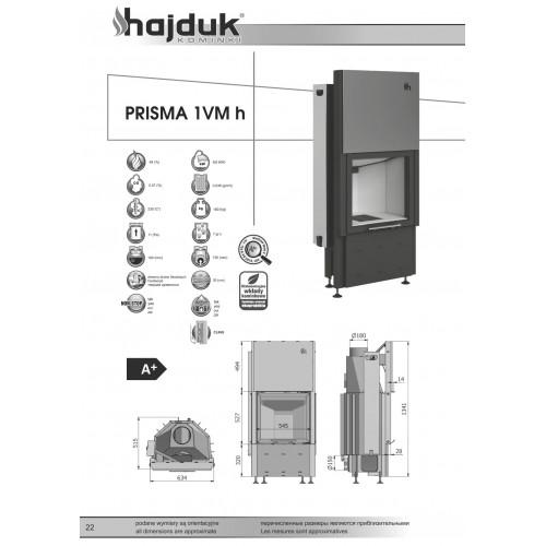 Каминная топка Hajduk PRISMA 1VMh, 9кВт