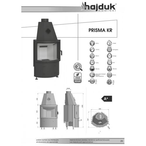 Каминная топка Hajduk PRISMA KR, 10кВт