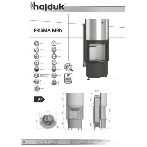 Камінна топка Hajduk PRISMA MRh, 9кВт