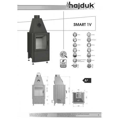 Камінна топка Hajduk Smart 1V, 8кВт