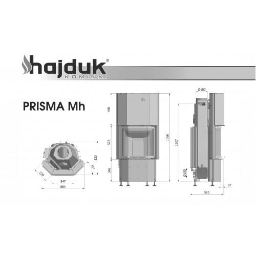 Камінна топка Hajduk Prisma Mh, 8кВт