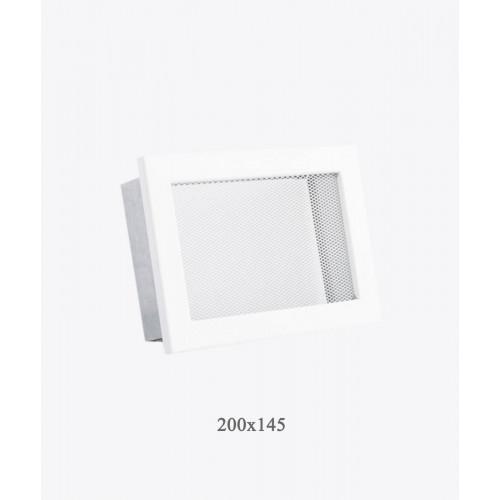 Решітка для каміна Ventlab сітка, 200х145мм біла