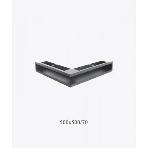 Вентиляційна решітка V - OPEN-L 500х500х70, чорна