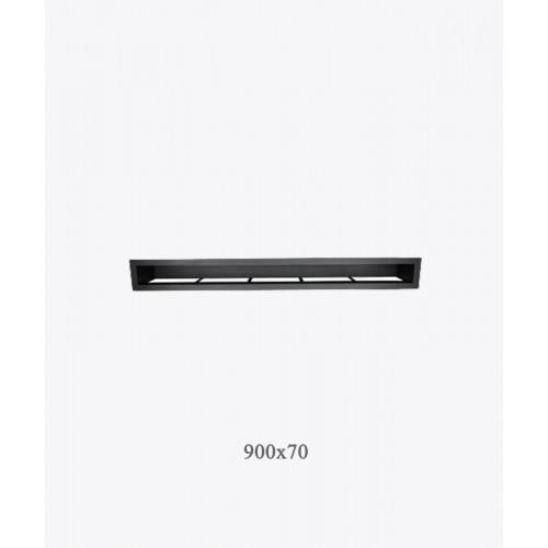 Вентиляционная решетка туннельная  V-OPEN KRVO-I черная 900х70мм