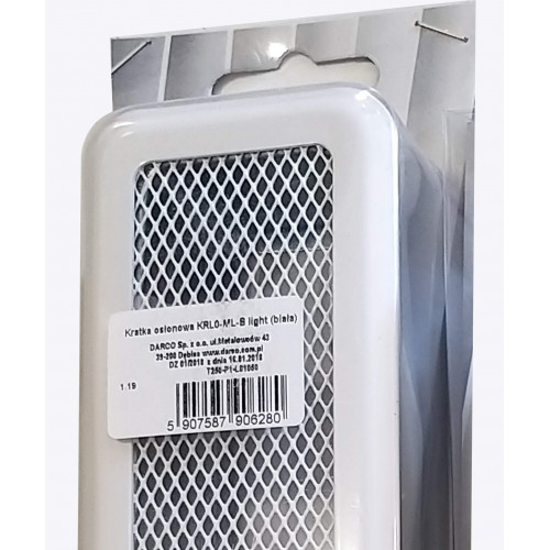 Вентиляційна решітка Р0 біла Light, 65х205мм