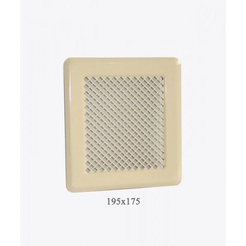 Вентиляційна решітка Р2 беж, 175х195мм