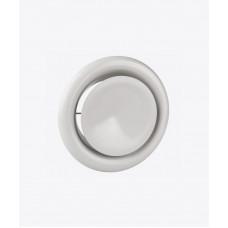Анемостат металлический круглый, белый
