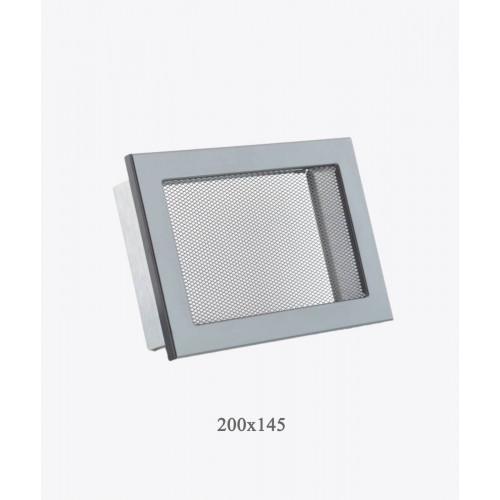Решетка для камина Ventlab сетка, 200x145мм черная