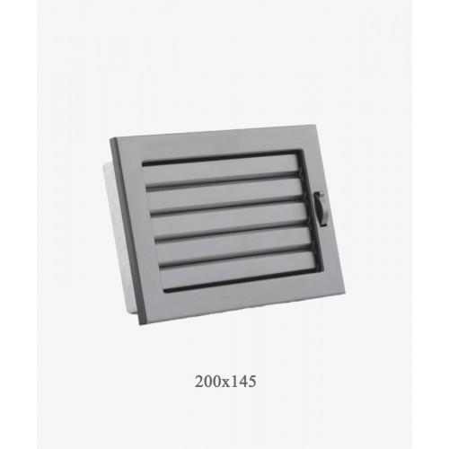 Решітка Ventlab з регульованими жалюзі, 200x145мм чорна
