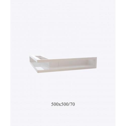 Вентиляционная решетка V-OPEN-L 500х500х70, белая