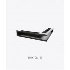 Вентиляционная решетка туннельная V-OPEN-L, 500х700/100, черная