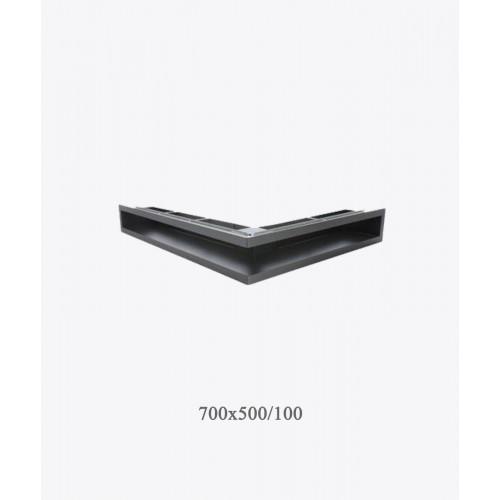 Вентиляційна решітка тунельна V-OPEN-L 500х700 / 100, хром