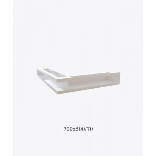 Вентиляційна решітка тунельна V-OPEN-L, 700х500 / 70, біла