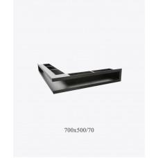Вентиляционная решетка туннельная угловая V-OPEN-L 500х700/70, чорная