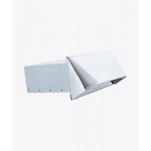 Елемент для забору повітря прямокутний CZNP хром, 50х150мм