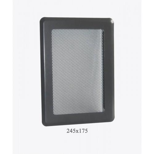 Вентиляционная решетка Р3 Light, 245х175мм, графит