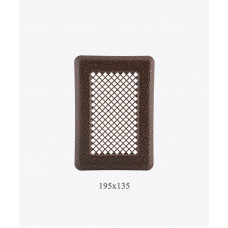 135х195 Вентиляционная решетка Р1 ант. медь