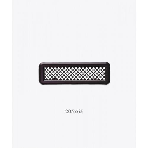 Вентиляционная решетка Light Р0 графит, 205х65мм