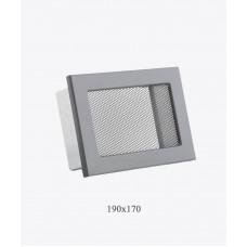 Вентиляционная решетка Ventlab, 190х170мм, сетка черная