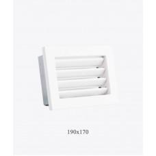 Вентиляционные решетки Ventlab с нерегулируемыми жалюзи, 190х170мм белая