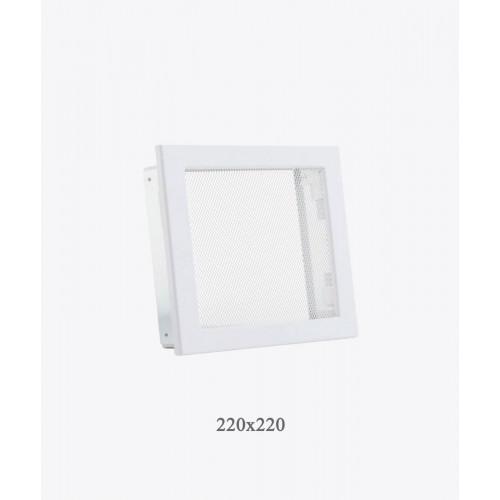 Решітка для каміна Ventlab сітка, 220х220мм, біла