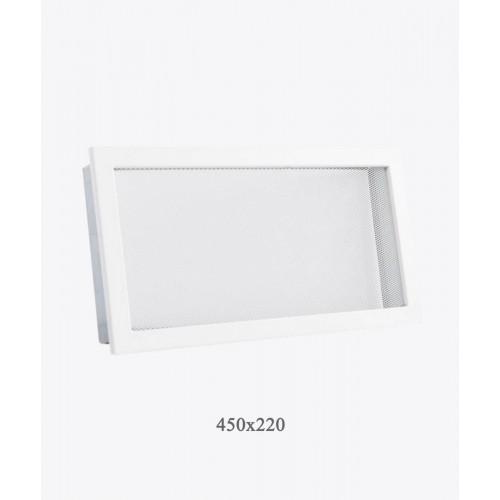 Решетка для камина с мелкой сеткой Ventlab, 450х220мм, белая