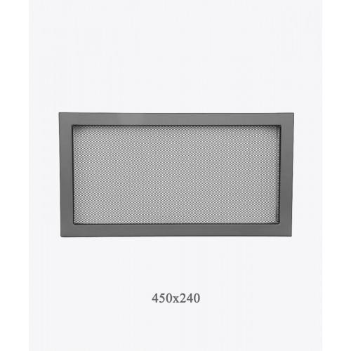 Решетка для камина Ventlab, 450x240мм, сетка черная