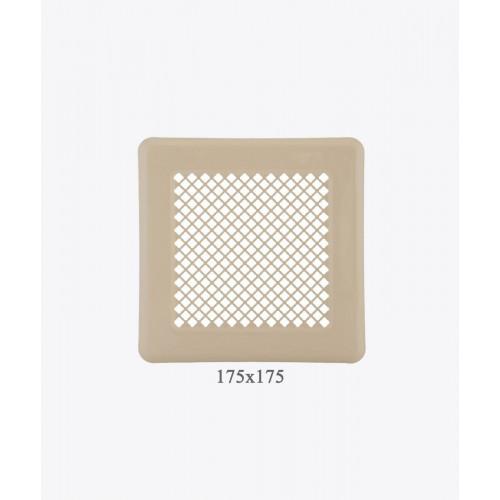 Вентиляційна решітка, 175х175 мм, беж