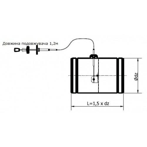 Дросельная заслонка з силіконовим ущільнювачем і гнучким тросом кругла Darco PJSS100