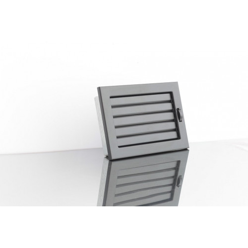 Решітка Ventlab з регульованими жалюзі, 190х170мм чорна