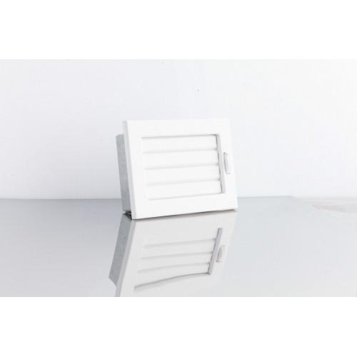 Решітка Ventlab з регульованими жалюзі, 190х170мм біла