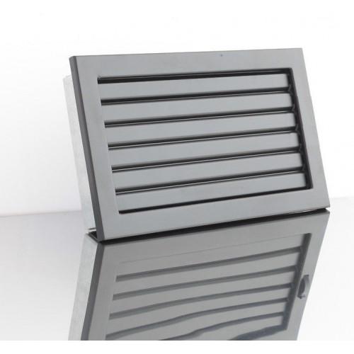 Решетка для камина Ventlab 240x170мм, черная