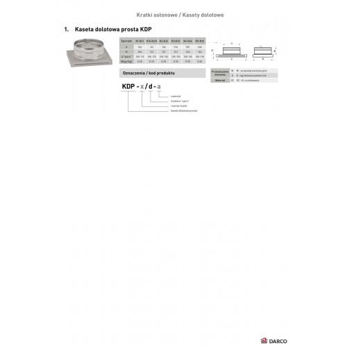 Касета-адаптер для решітки KDP, 175х245мм, Ø 100 мм