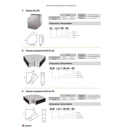Коліно горизонтальне регульоване KLN 45-90º