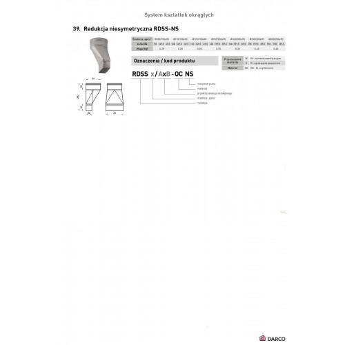 Редукция RDSS-NS aсиметрическая (круг-прямоугольник), 150х50мм