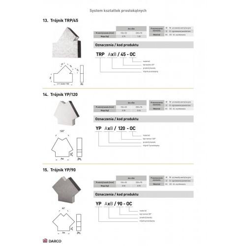 Тройник прямоугольный TRP 45º