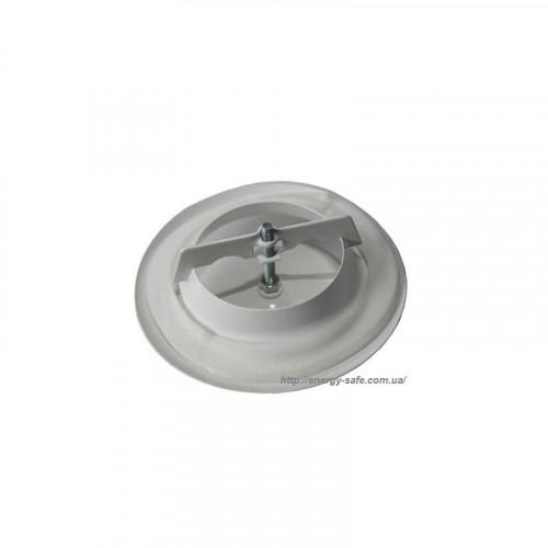 Анемостат металевий круглий, білий