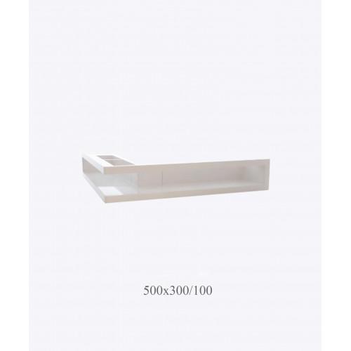 Решетка угловая  V-OPEN, 500х300/100, белая