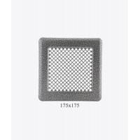 Вентиляционная решетка Р14, (античное серебро ), 175х175мм