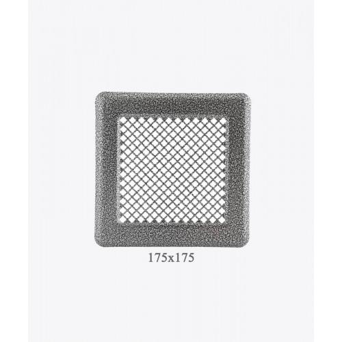 Вентиляційна решітка Р14, (античне срібло), 175х175мм