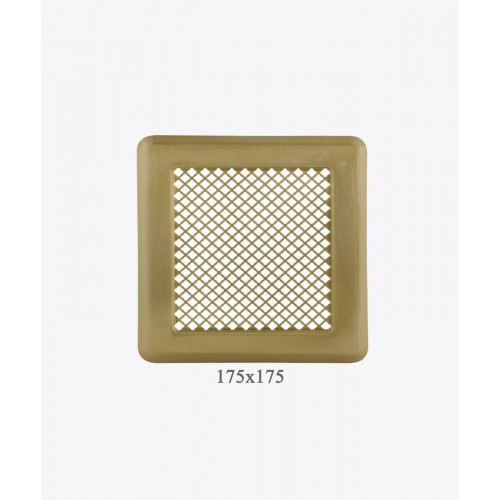 Вентиляционная решетка Р14, (175х175мм) латунь