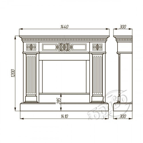 Камінний портал Браво Олександрія