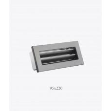Вентиляционная решетка Ventlab 95х220, чорна