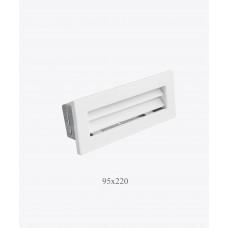 Вентиляционная решетка Ventlab 95х220, біла
