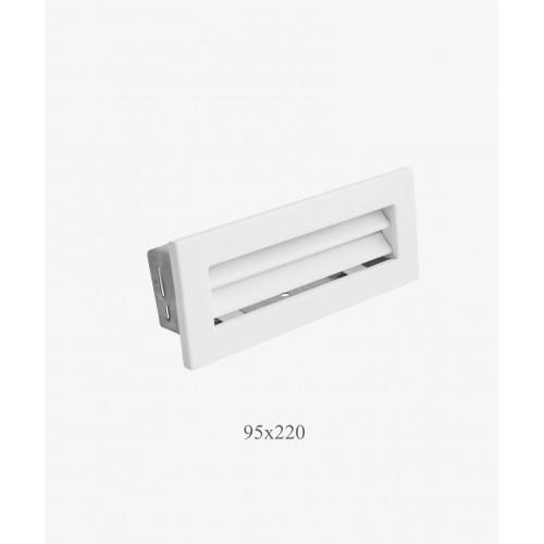 Вентиляційна решітка Ventlab 95х220, біла
