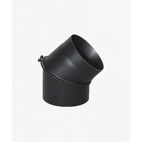 Колено для дымохода стальное регулируемое, 45°