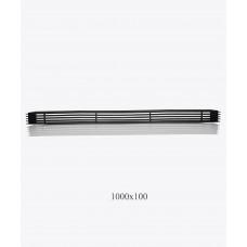 Решетка металлическая Loft 1000х100мм, чорная